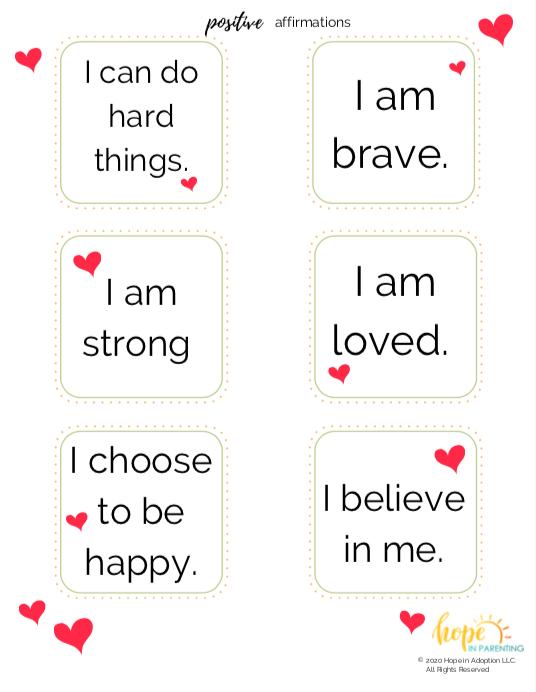 Positive Affirmations for Kids & Parents