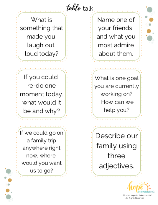 Table Talk with your kids