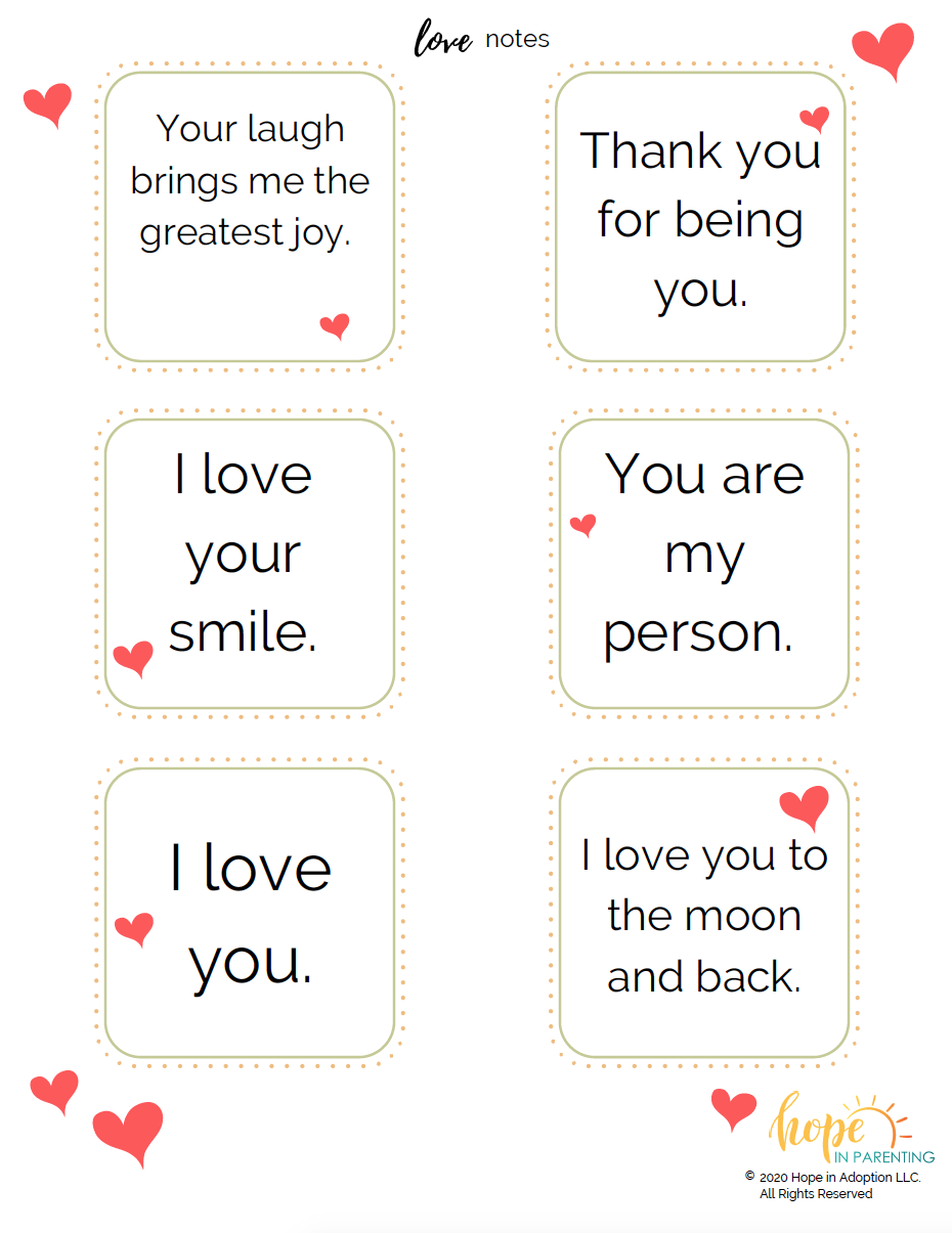 Encouraging Words & Love Notes for Kids