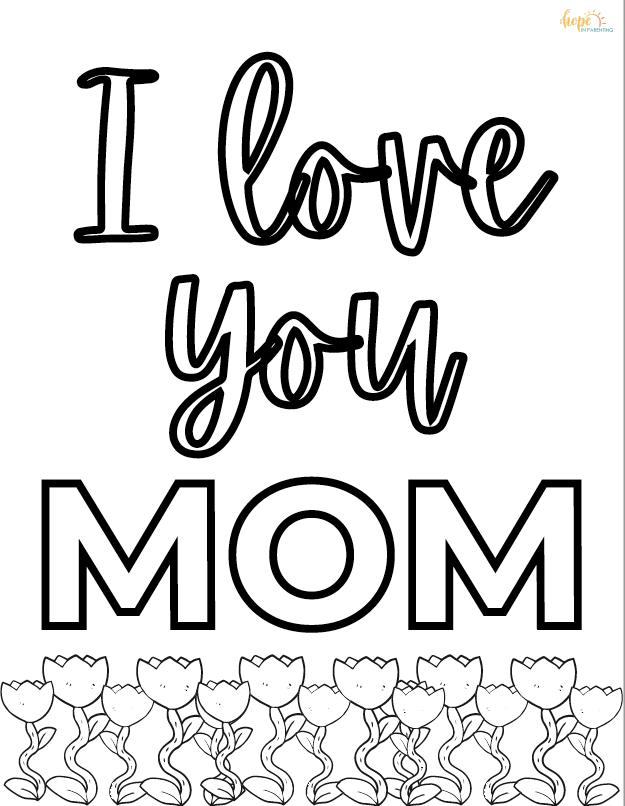 I Love You Mom Printable
